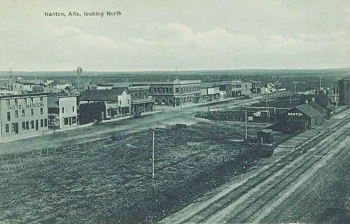 railway stations in nanton alberta
